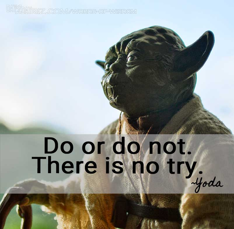 Motivational Business Quote from Yoda