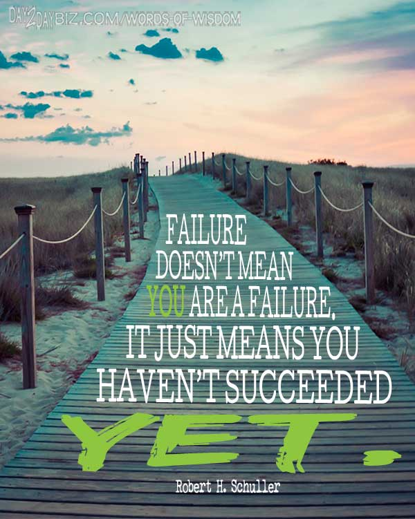 Motivational Quote about Failure from Robert Schuller