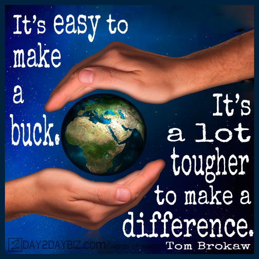 Make a Difference Quote from Tom Brokaw