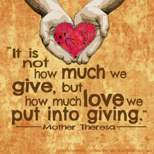 Mother Theresa on Giving