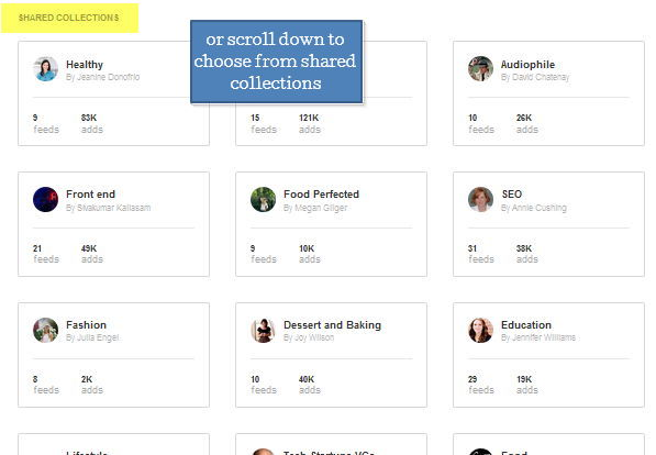 4 feedly share collections screenshot