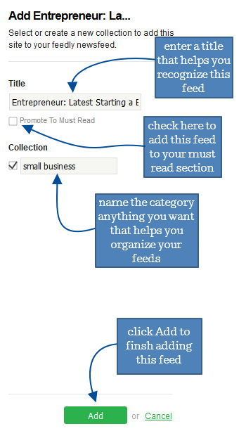 8 feedly screenshot select entrepreneur sidebar