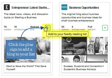 7 feedly screenshot add entrepreneur to list